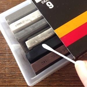 綿棒を使ったパステルシャドウのやり方